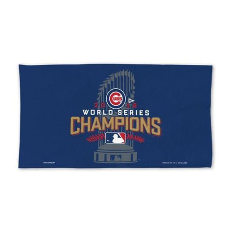 2016 MLB Chicago Cubs World Series Champions On the Field Locker Room Towel - Free Shipping