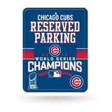 2016 MLB Chicago Cubs World Series Champions Reserved Parking Sign MLB Licensed- Free Shipping