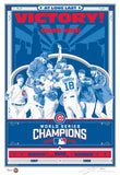 2016 MLB Chicago Cubs World Series Champions Handmade LE Serigraph - Free Shipping