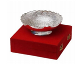 Silver plated gift set: silver plated Indian ornamental bowl, traditional engravings, great gifting option-FREE Shipping