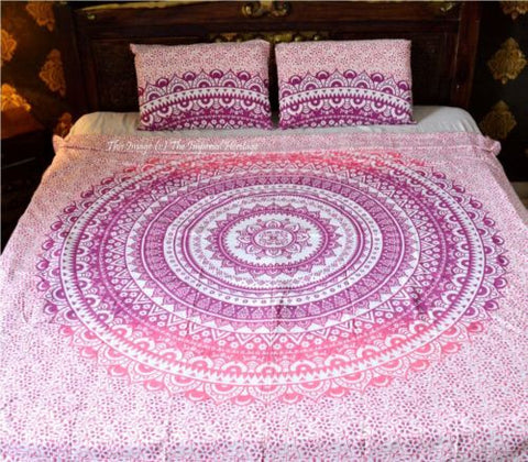Floral Ombre Bohemian Duvet Cover Boho 3 PC Set Bedding & 2 Pillow Cases - Free Shipping
