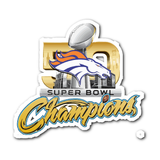 Denver Broncos SUPER BOWL 50 CHAMPIONS Decal/Sticker - Free Shipping