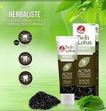 Active Charcoal Toothpaste Black Twin Lotus 100% Natural - Bright Smiles - Fresher Breath