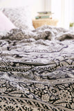 Black and White Bohemian Elephant Bedding 3 Pc Set Queen & 2 Pillow Cases - Free Shipping