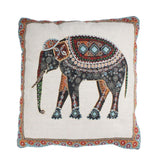 Bohemian Elephant Multi Color Boho Outline Cotton Decorative Cushion Cover - Free Shipping