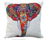 Bohemian Elephant Multi Color Decorative Pillow Case Cushion Cover - Free Shipping
