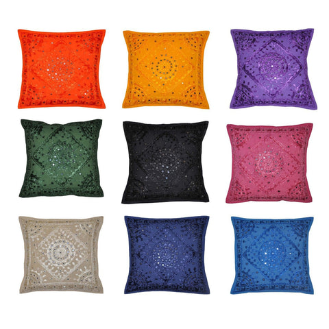 Bohemian Pillow Cover Indian Decor Handmade Cushion Boho Pillow Covers - Free Shipping