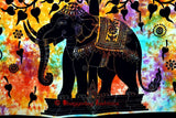Bohemian Psychedelic Celestial Elephant Tree Tapestry - Free Shipping