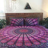 Bohemian Purple Red Sea 3 Pc Set Mandala Boho King Bedding & 2 Pillow Cases - Free Shipping