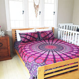 Bohemian Purple Red Sea 3 Pc Set Mandala Boho Queen Bedding & 2 Pillow Cases - Free Shipping