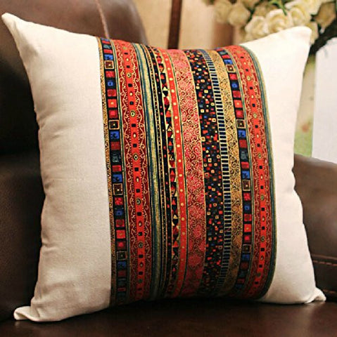 Bohemian Style Colorful Pillow Cover Decorative Throw Cushion Cover - Free Shipping