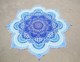 Boho Large Round Lotus Flower Mandala Bohemian Tapestry Circle Design - Free Shipping