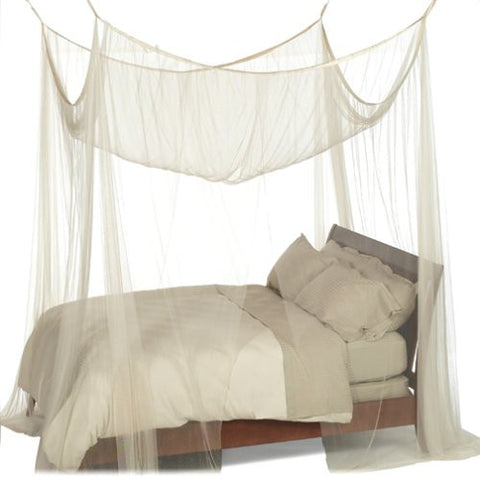 Boho Style Heavenly 4-Post Canopy Ecru Color Bohemian Canopy Fits all bed  sc 1 st  eRummagers & Boho Style Heavenly 4-Post Canopy Ecru Color Bohemian Canopy ...