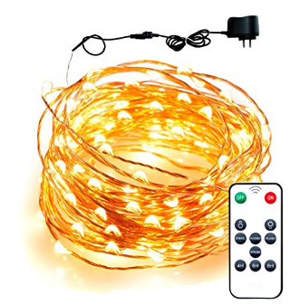 Boho Light - LED String Lights 33 ft,100 Leds,Warm White,Updated Remote Controller