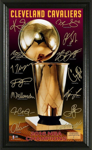 Cleveland Cavaliers 2016 NBA Champions Signature Trophy Framed LE - Free Shipping