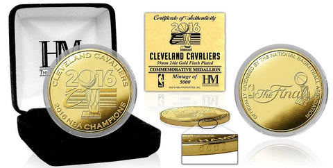 Cleveland Cavaliers 2016 NBA Finals Champions Gold Mint Coin - Limited Edition - Free Shipping