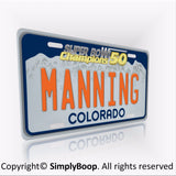 Denver BRONCOS Peyton Manning Super Bowl 50 Champions License Plate - Free Shipping