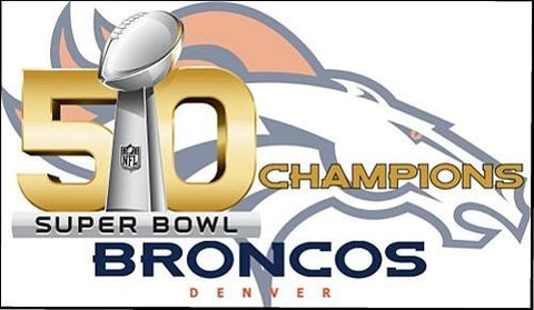 Denver Broncos 2016 Super Bowl 50 championship fridge magnet - Free Shipping