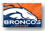 New NFL Denver Broncos USA American Stars & Stripes Flag 3' x 5' ft - Free Shipping
