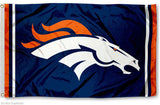 Denver Broncos Large Outdoor NFL Flag 3 x 5- Free Shipping