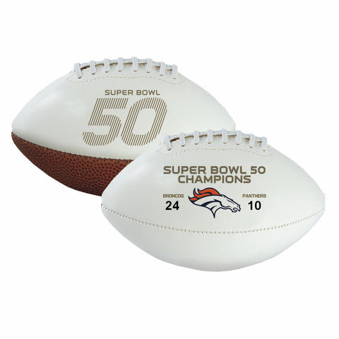Denver Broncos Official NFL Super Bowl 50 Champions Football by Rawlings - Free Shipping