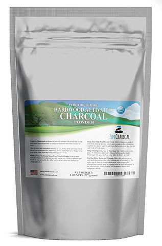 Hardwood Activated Charcoal Powder USA 100% All Natural. Whitens Teeth, Rejuvenates Skin/Hair, Detoxifies, Helps Digestion, Treats Poisoning/Bites/Wounds