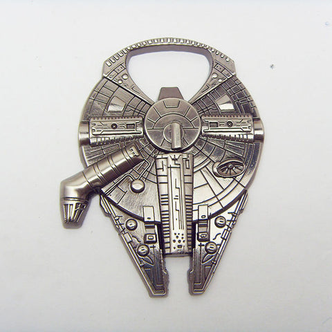 High Quality Star Wars Millennium Falcon Metal Alloy Bottle Opener KeyRing