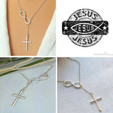 JESUS IS INFINITE Cross Necklace - Limited Time Sale!