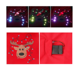 LED Reindeer Shirt Puppy Costume