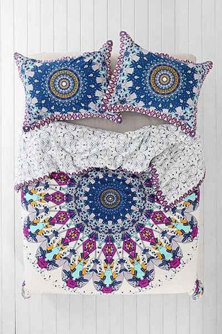 Luna Medallion Boho 3pc Mandala Duvet Cover Amp 2 Pillow