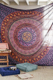 Indian Wall Hanging Hippie Mandala Bohemian Tapestry Bedspread, Beach, Dorm Décor - Free Shipping