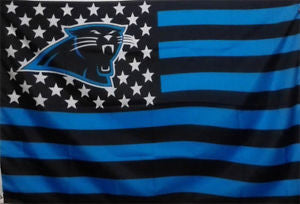 Carolina Panthers Stars and Stripes American NFL FLAG 3' X 5' HUGE FLAG + Free Shipping