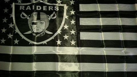Oakland Raiders Flag Banner 3' X 5' Huge American Flag Stars & Stripes