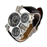 Oulm Luxury Sport Military Quartz Dial Men Stainless Steel Wrist Watch - Free Shipping