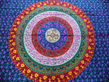 Queen Size Bohemian Tapestry Mandala Red Blue Yellow Boho Mandala Tapestry - Free Shipping