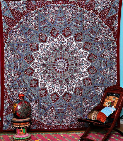 Rajasthali Bohemian Tapestry Mandala Hippie Indian Throw Bedspread Dorm Wall Bohemian Tapestry Decor