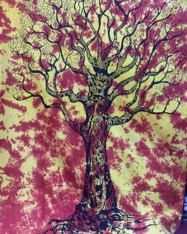 Red Fire Boho Tree Of Life Tapestry Hippie Mandala 3 Sizes - Free Shipping