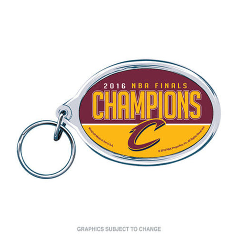 Round 2016 NBA Finals Champions Cleveland Cavaliers Acrylic Key Ring Glossy Key Chain- Free Shipping