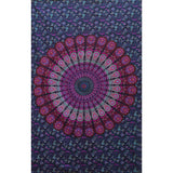 Multi-Color Peacock Bohemian Wall Hanging Mandala Tapestry Boho Wall Decor - Free Shipping