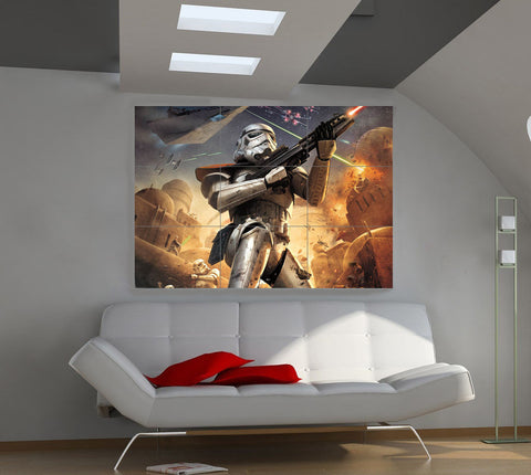 Star Wars Clone Storm Trooper Imperial Solder in Battle Huge Art Giant Poster Wall Print 39
