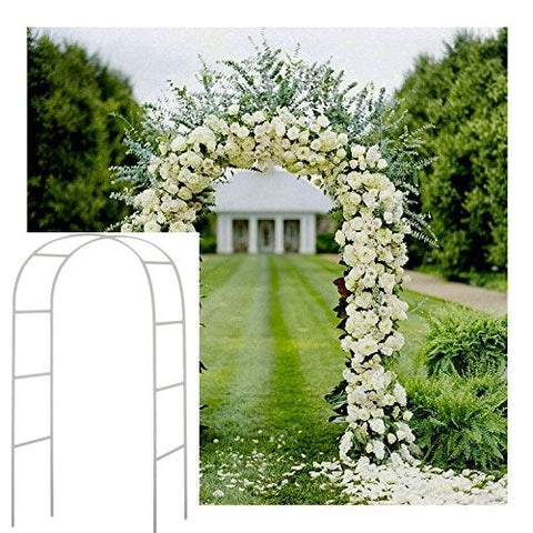 7.5 Ft White Metal Arch Wedding Garden Bridal Party Decoration Arbor - Free Shipping