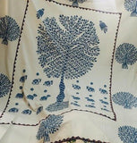 Blue Tree of Life Bohemian Kantha Quilt 3 PC Boho Bed Set 2 Pillow Cases - Free Shipping