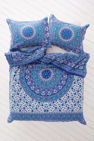Blue Universe Bohemian 3PC Mandala Boho Bedding Duvet Cover & 2 Pillow Cases - Free Shipping