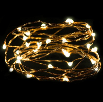 Boho Light #2 - 2 Set LED Warm White LED Rope Lights  9.8 Ft Ultra Thin Copper
