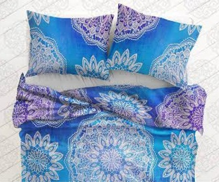 Burple Hippie Flower Duvet Cover 3 Pc Set Bohemian Tapestry and 2 Pillow Cases - Free Shipping