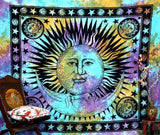 Psychedelic Celestial Boho Hippie Sun Tapestry Wall Hanging Bohemian Tye Die - Free Shipping