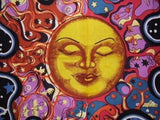 Psychedelic Celestial Sun Boho Hippie Tapestry Wall Hanging Bohemian Decor - Free Shipping