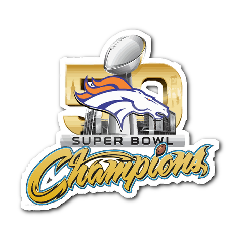 Denver Broncos SUPER BOWL 50 CHAMPIONS Decal/Sticker v2 - Free Shipping