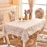 "4 Style 54""x72"" Oblong Handmade Lace Crochet Fabric Table Cloth Wedding Decor"