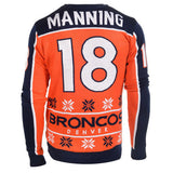 Denver Broncos Peyton Manning #18 Ugly Sweater Size S-XXL - Free Priority Shipping